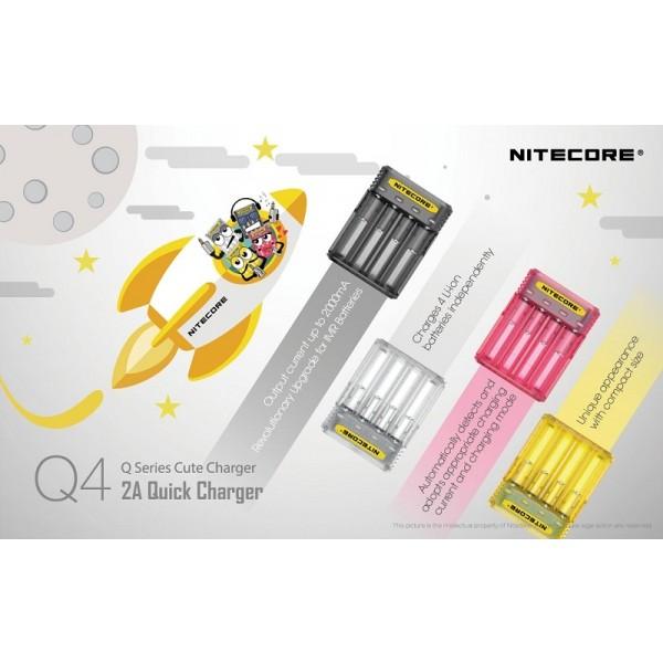 Nitecore Q4 Cute Charger, Încărcător Accelerat