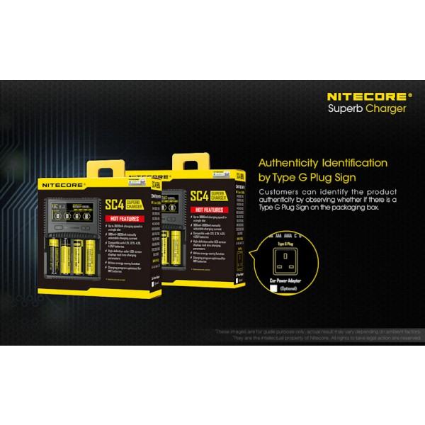 Nitecore SC4, Încărcător USB Acumulatori