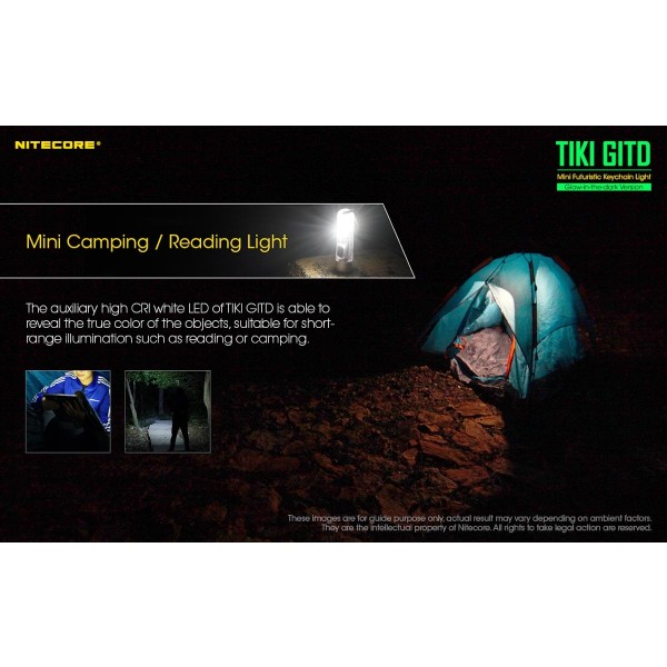 Nitecore TIKI GITD, Lanterna LED UV