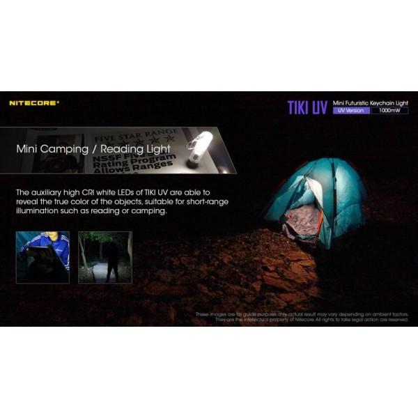 Nitecore TIKI UV, Lanternă Breloc UV, Reîncărcabilă USB-C, 70 Lumeni, 12 Metri