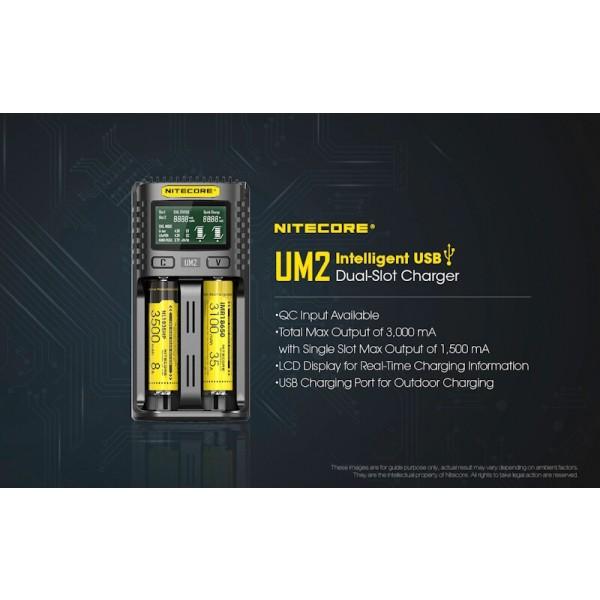 Nitecore UM2, Incarcator USB