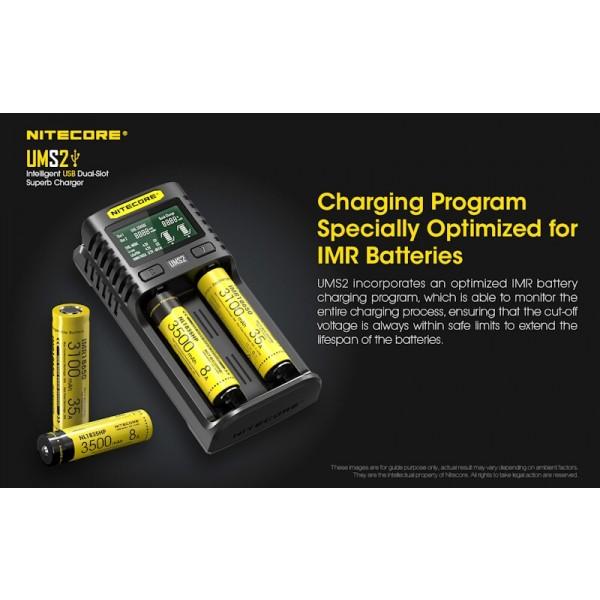 Nitecore UMS2, Incarcator USB