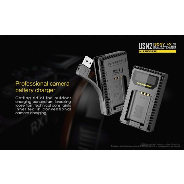 Nitecore USN2, Încărcător USB Acumulatori