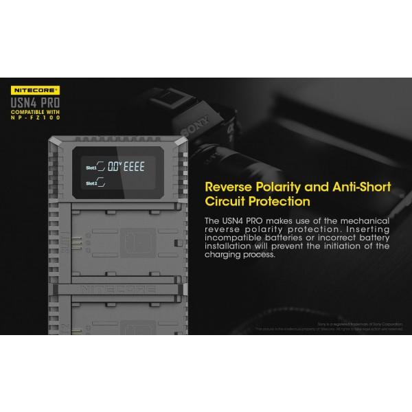 Nitecore USN4 Pro, Încărcător USB Acumulatori