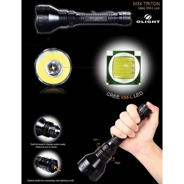 Lanterna LED tactica Olight M3X Triton