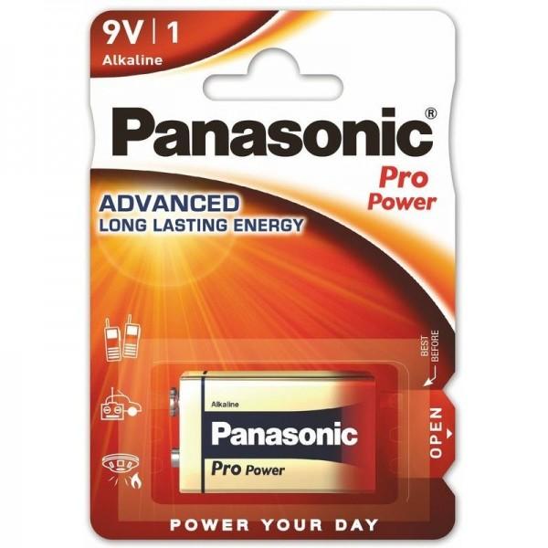 Panasonic 6LR61PPG/1BP Pro Power, Advanced Long Lasting Energy, Baterie Alcalină, 9V, Blister 1