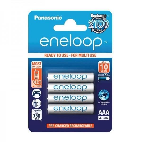 Panasonic Eneloop BK-4MCCEC4BE, Acumulatori AAA, 750 Mah, NiMh, HR03