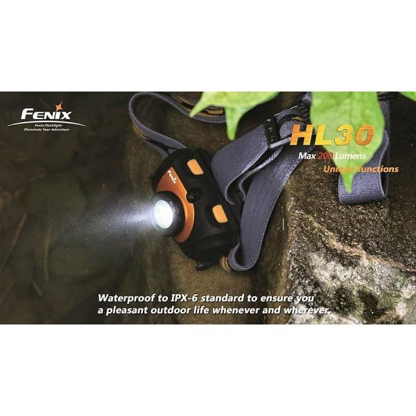 Lanternă Frontală FENIX HL30 R5 (VERDE)