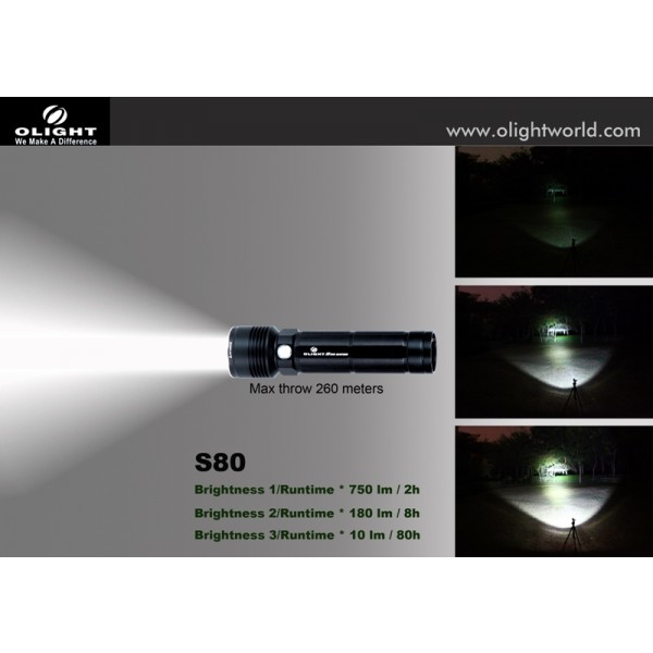 Lanterna LED Olight S80 Baton