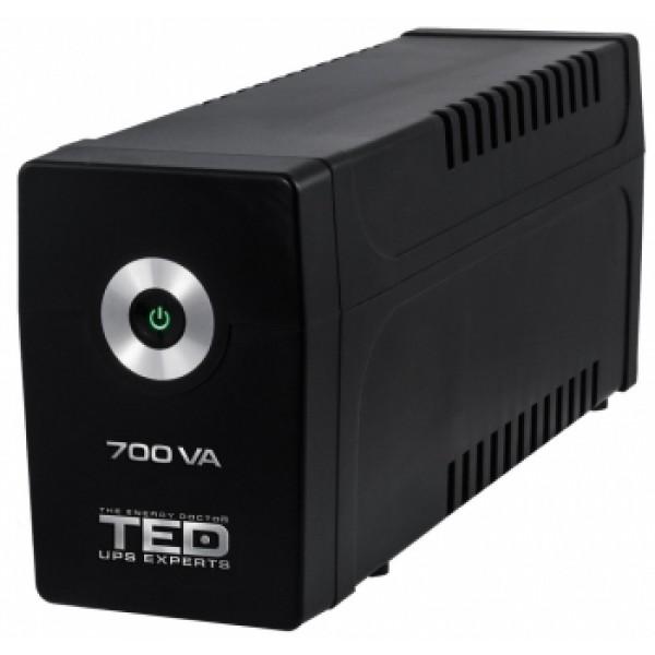 TED Electric Line Interactive, UPS cu stabilizator, 700VA, 2 Iesiri Schuko