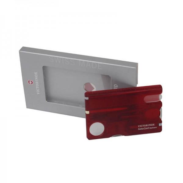 Victorinox SwissCard Nailcare, Card Multi-functional Roșu