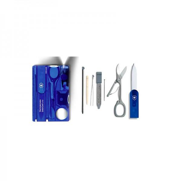 Victorinox SwissCard Saphire, Multi-Tool Albastru transparent
