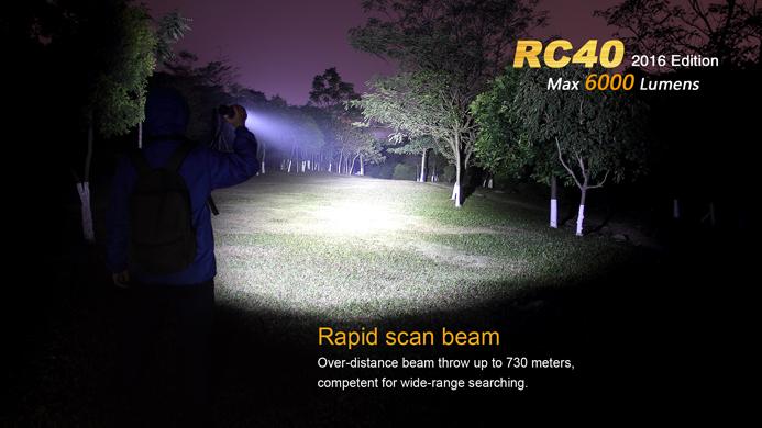 O lanternă de mare putere care nu lasa loc de discutii Fenix RC40 2016, 6000 de lumeni