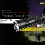 Nitecore MH27, câștigător la Red Dot Award: Product Design 2016!