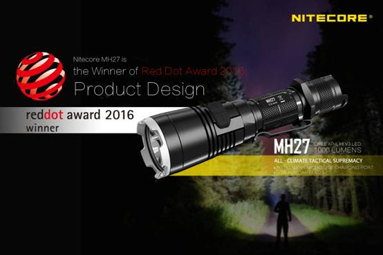 Nitecore MH27, castigator al Red Dot Award Product Design 2016