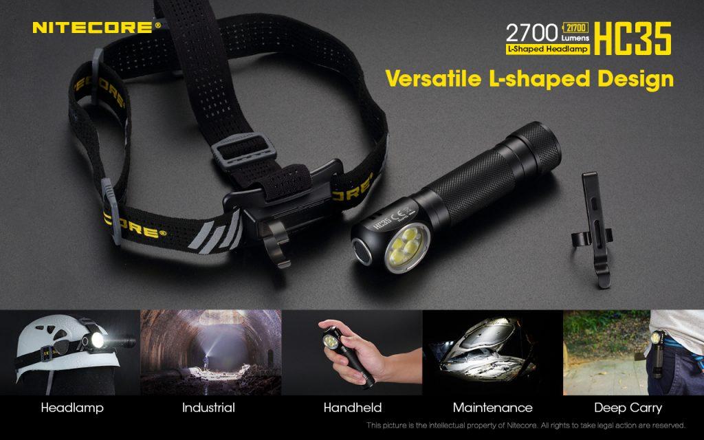 Nitecore HC35, Lanterna Frontală, 2700 lumeni