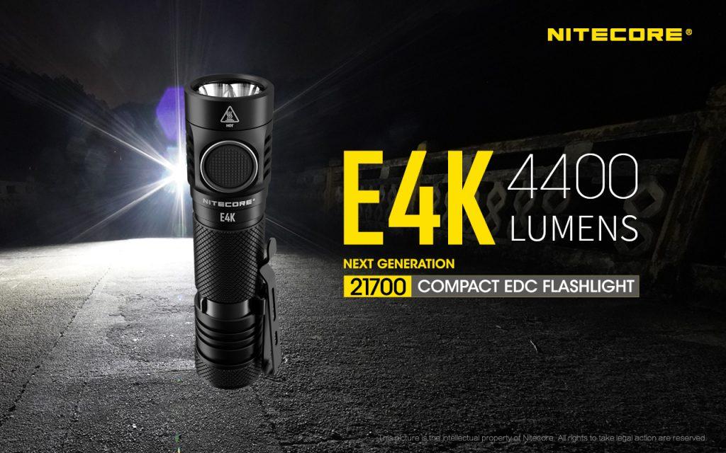 Nitecore E4K - lanterna led, 4400 lumeni
